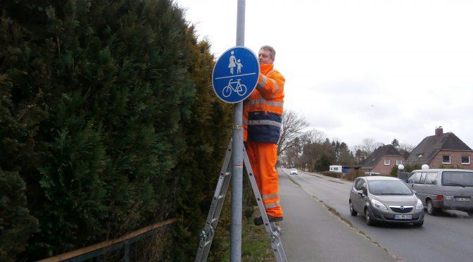 Radweg in Kisdorf wieder eröffnet